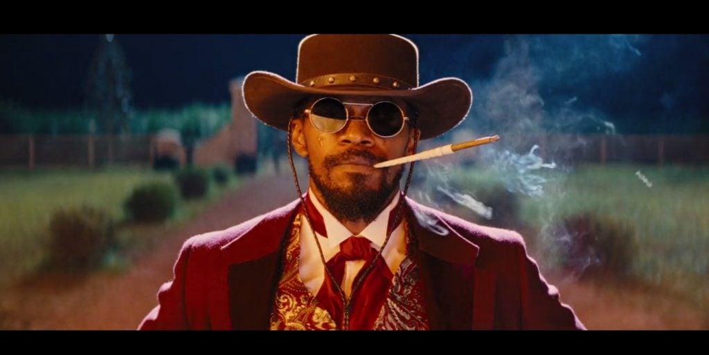 Jamie Foxx con gafas en Django desencadenado