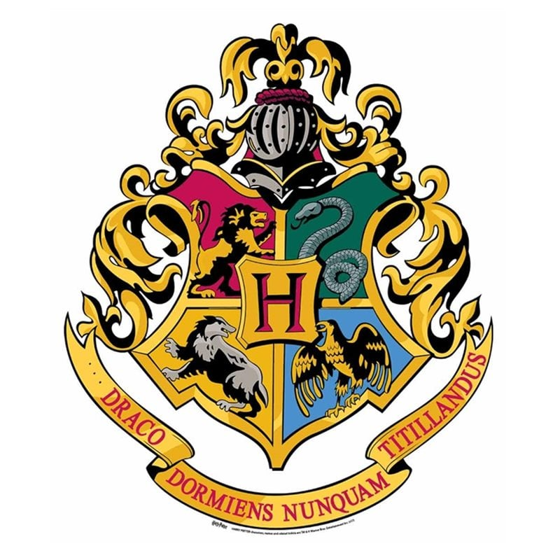 Escudos de las casas de Hogwarts
