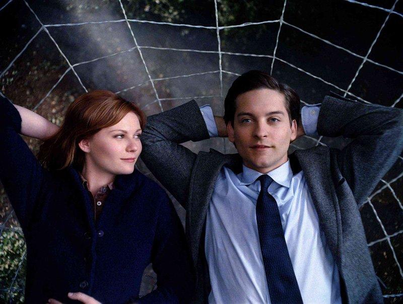 Kirsten Dunst y Tobey Maguire en Spiderman 3