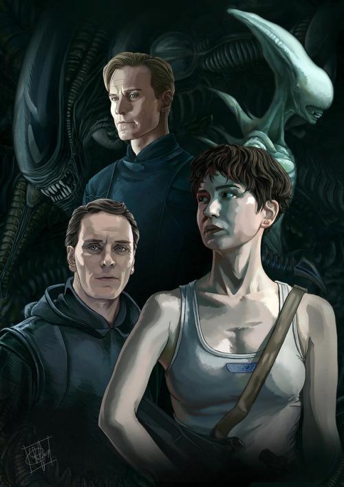 Actores de Alien Covenant David y Daniels