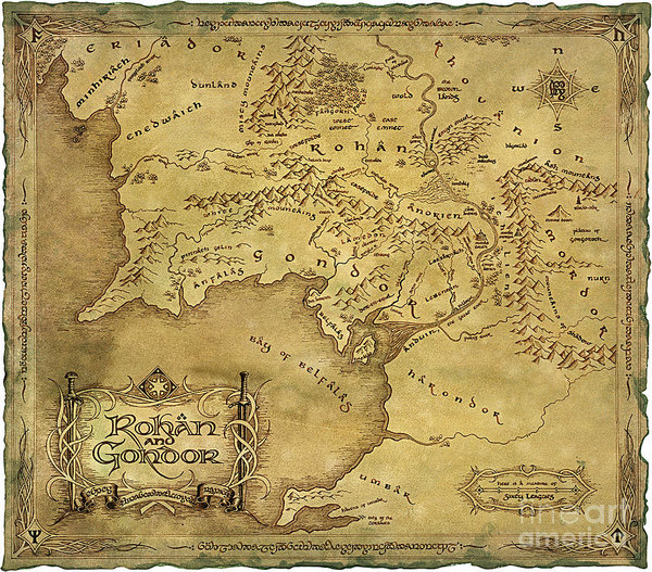 Rohan y Gondor Mapa