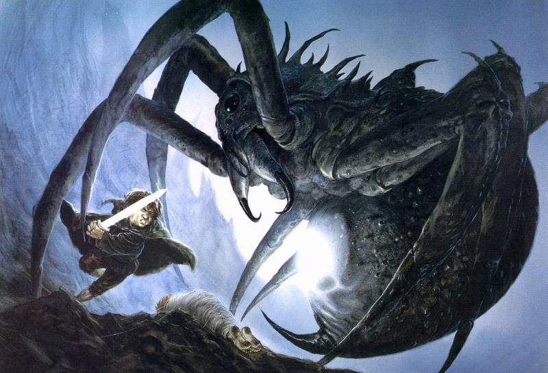 el antro de cirith ungol de la araña las dos torres