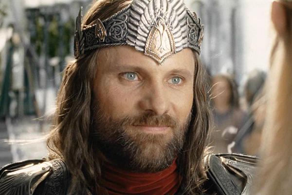 Aragorn II en el señor de los anillos del retorno del rey