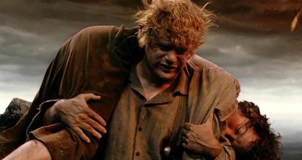 Sam portador del anillo y de Frodo
