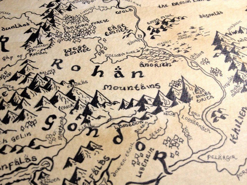 Mapas del señor de los anillos
