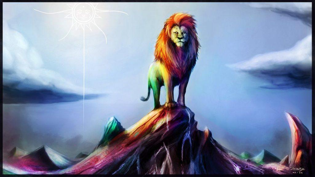 El león de la historia interminable Graógraman La muerte multicolor