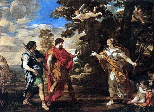 Aeneas padre de los fundadores de la ciudad de Roma