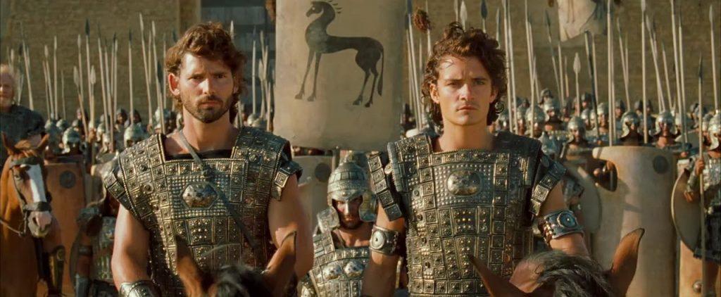 Los príncipes troyanos Hector y Paris