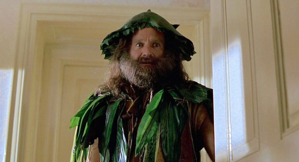 Vestido verde de Alan Parrish en Jumanji Robin Williams