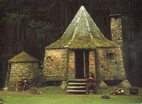 La casa de Hagrid en Harry Potter quemada
