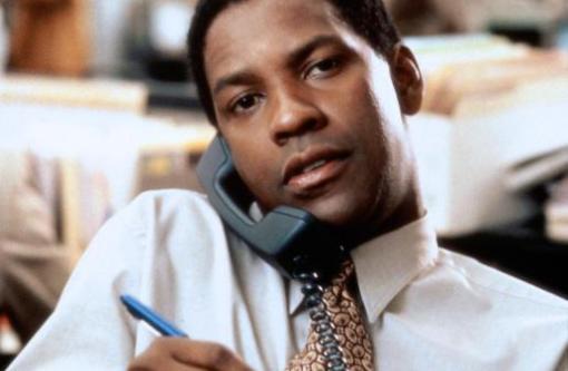Pel铆cula de thriller pol铆tico donde Denzel Washington hace de periodista.